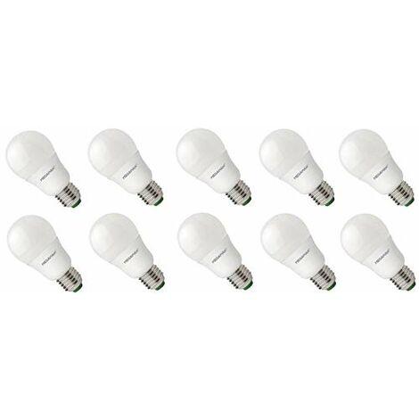 MEGAMAN 10 X LAMPE/AMPOULE / E27 / 9W pour 60 W / 1001LM / 220-240V / 2800K / 15 000 Heures MM09637