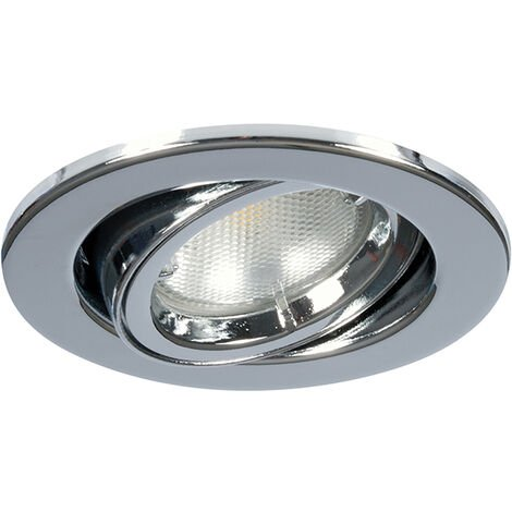 Megaman Alina GU10 Fire Rated Adjustable Downlight - Fixture Only - Chrome