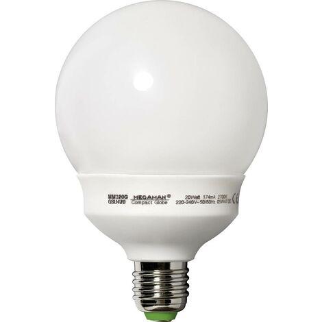 Megaman Energiesparlampe EEK: A (A++ - E) E27 149mm 230V 20W = 85W Warmweiß Globeform 1St. X97290