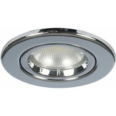 Megaman Leora GU10 Fire Rated Fixed Downlight - Fixture Only - Chrome