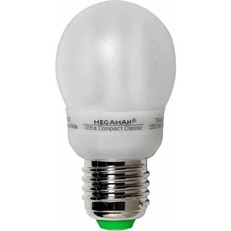 MEGAMAN MM19012i Ultra Compact Classic Energiesparlampe 7W E27 Warmweiß EEK A