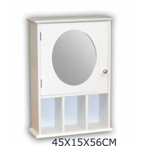 MEGANEI armario baño espejo pequeño 4513
