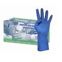 MEGANEI caja 50 guantes latex azul a/prot.t8-9 sin polvo