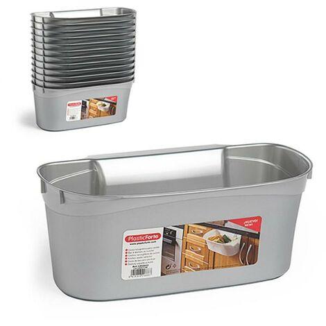 MEGANEI cesta colgar cocina plata