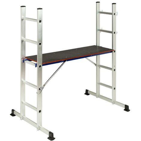 MEGANEI escalera aluminio andamio 1.55 mt 86x136