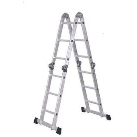 MEGANEI escalera aluminio multifuncion 4x4 peld.