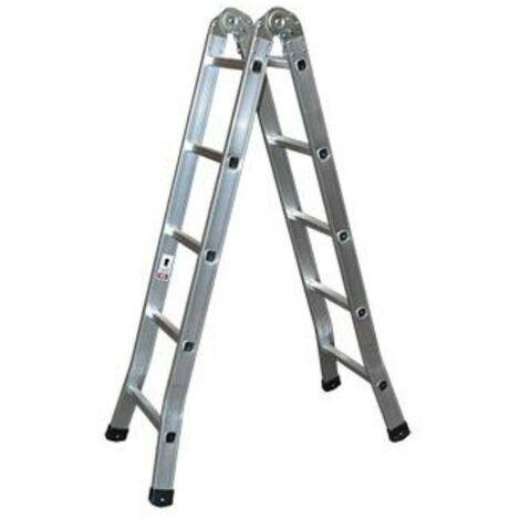 MEGANEI escalera aluminio tijera industrial 5 p.