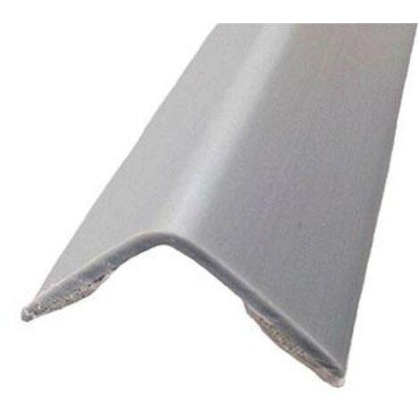 MEGANEI esquinero adhesivo 28x28mm aluminio plata 2m