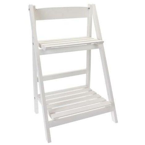 MEGANEI estanteria madera 2 e. blanca 41x32x70cm