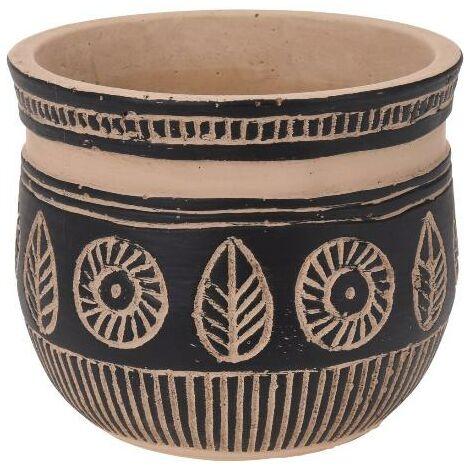 MEGANEI macetero ceramica etnico 13x11 cm
