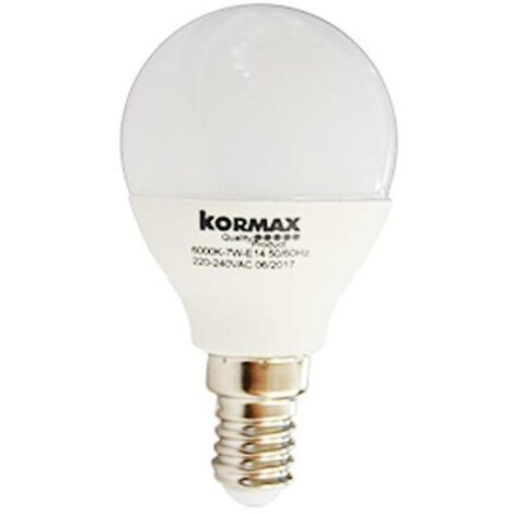 MEGANEI pack 5 lamparas led g45-7w e14 l/calida esferica