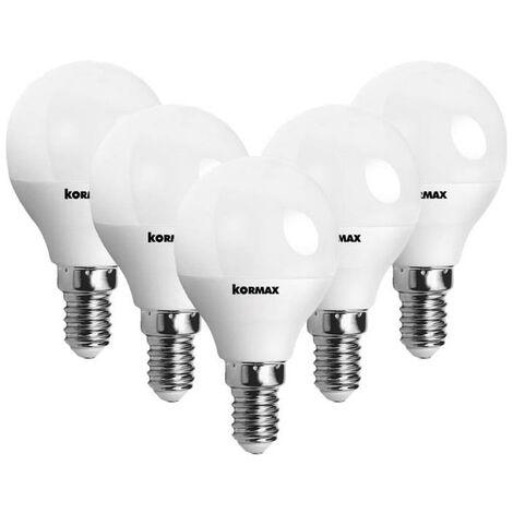 MEGANEI pack 5 lamparas led g45-7w e14 l/fria esferica