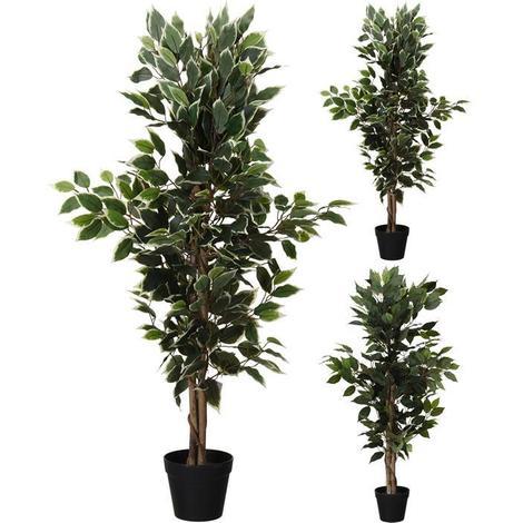 MEGANEI planta artificial ficus 115 cm surtido