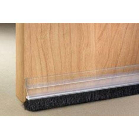 MEGANEI tira 1mt burlete adhesivo cepillo transparente 2157