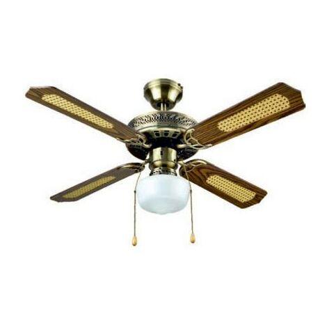 MEGANEI ventilador techo 105 cm con luz cadiz