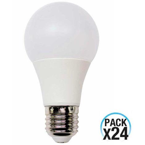 MegaPack 24 Bombillas LED Estándar E27 9W Equi.60W 806lm 4000K 10000H 1Primer Low Cost