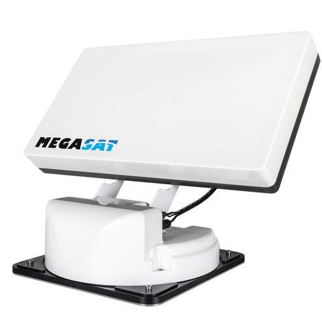 MEGASAT Traveller-Man Antenne Satellite Plate Automatique TWIN 2 Sorties Auto Skew
