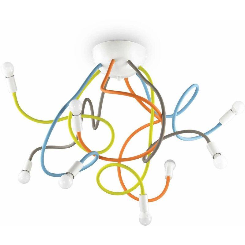 Mehrfarbige Deckenleuchte MULTIFLEX 8 Lampen