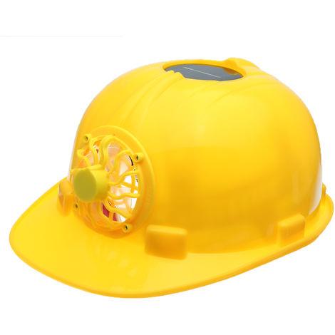 Mei Hard Helmet Protection Safety Work Solar Power Cooling Fan Hasaki