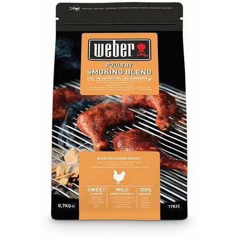 Mélange de copeaux de bois WEBER - pour barbecues - poulet - 0,7kg