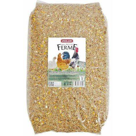 Mélange de graines pour poulets et poules 12 kg