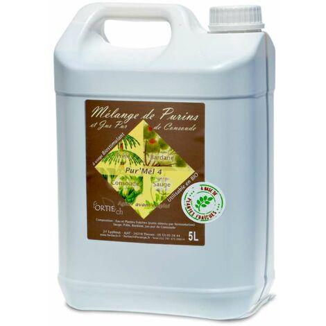 Mélange de purins, consoude, prêle, bardane, sauge. 5 litres à diluer