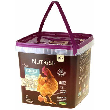 Mélange Pondeuse Avec Mangeoire Intégrée Nutrisi Coquille 5kg - Gasco