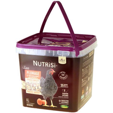Mélange Pour Poule Avec Mangeoire Intégrée Nutrisi Plumage 5kg - Gasco