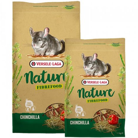 Mélange riche en fibres Nature Fibrefood Chinchilla Versele Laga pour chinchillas sensibles Sac 1 kg