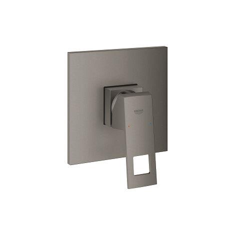 Mélangeur douche Grohe Eurocube à une main, rosette rectangulaire, Coloris: graphite dur brossé - 24061AL0