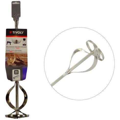Mélangeur sur perceuse/perforateur pour matières épaisses - Attachement SDS Plus - 80x400 mm TIVOLY