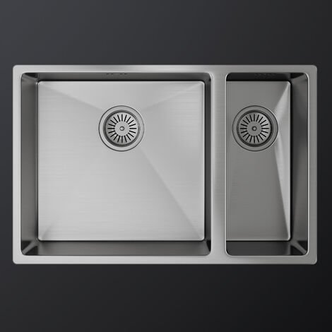 MELIA 1.5 Double Bowl and Half Stainless Steel Kitchen Sink & Waste 670 x 440mm