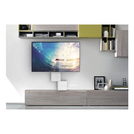 Porta Tv Led Meliconi.Meliconi Ghost Cube Cover Sistema Copricavi Componibile Bianco