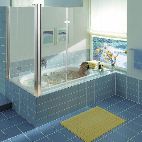 Melko Badewannenaufsatz Eck Duschkabine Duschtrennwand Duschwand Badewannenfaltwand ??