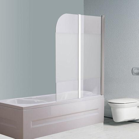 Melko Badewannenaufsatz Milchglas Badewannenfaltwand Satiniert Duschabtrennung ??