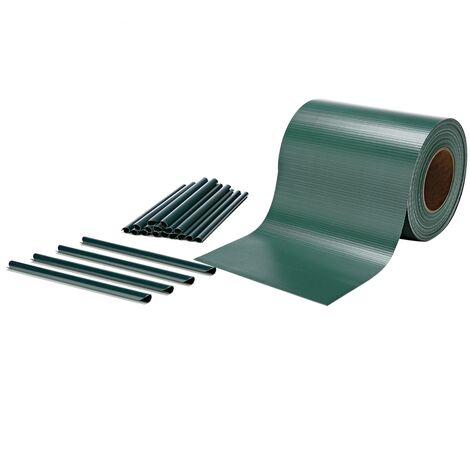 Melko Bandes de protection visuelle tapis à double tige 35 m de protection visuelle clôture opaque avec 20 clips de fixation