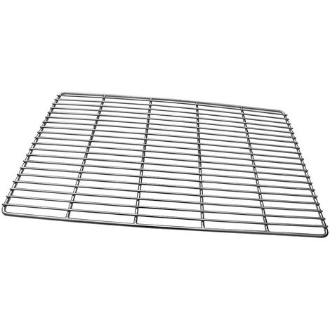 Melko BBQ Grill Grid Grill grid made of stainless steel, round or square - For grilling meat, fish and vegetables (square, 67 x 40 cm)