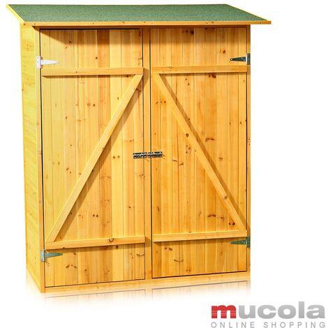 Melko Cabane à outils Cabane à outils XXL Cabane à outils Armoire de jardin, en bois, marron, 162 x 140 x 75 cm