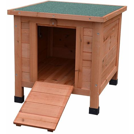 Melko cat house 50 x 45 x 43 cm with hinged lid and ramp, winterproof