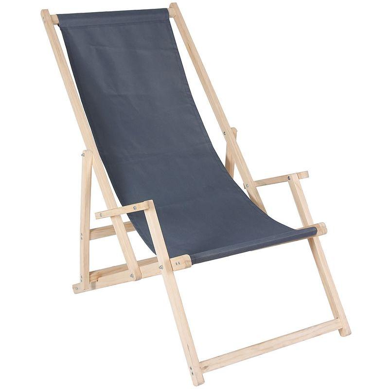 chaise longue chaise de plage chaise de camping chaise pliante lit de soleil chaise de balcon anthracite - Melko