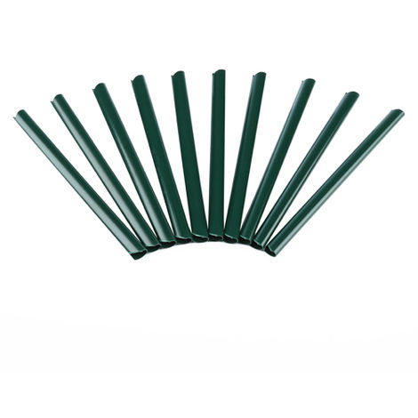 Melko clamping rails for fastening PVC fence foil, 190 x 15 mm, green, 10 pieces