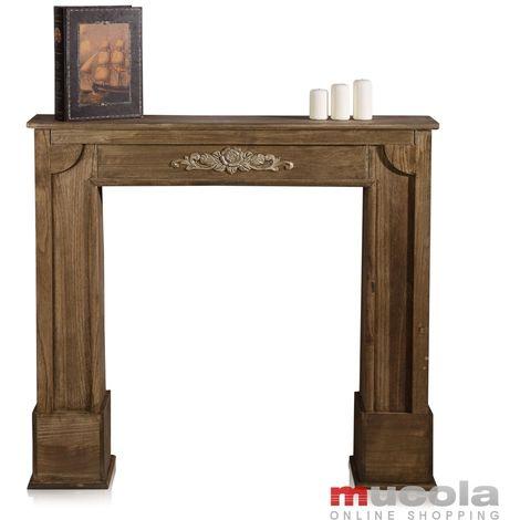 Melko Console de cheminée Cheminée décorative Cheminée à bois Revêtement de cheminée Reconstruction de cheminée