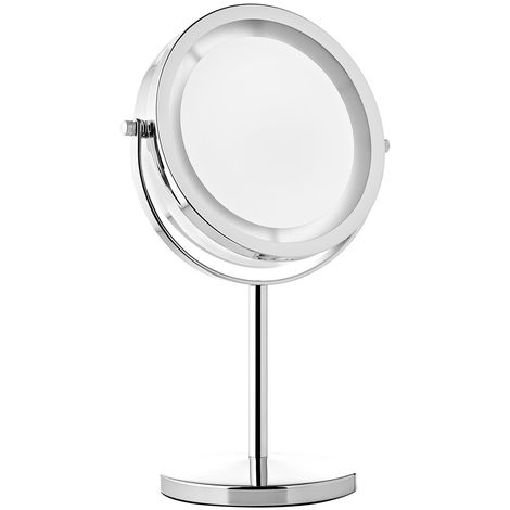 Melko cosmetic mirror 10Fach LED illuminated magnification makeup mirror shaving mirror