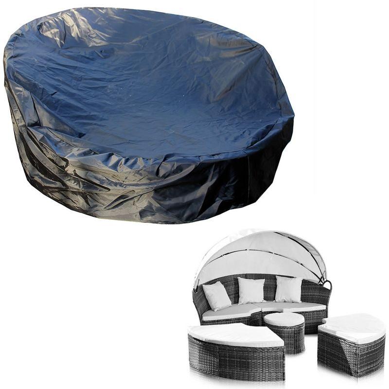 Couverture de protection bâche couverture rotin île soleil 182x76 protection contre les intempéries - Melko