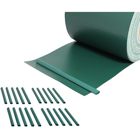 Melko fence visual protection strip 65m wind protection for double rod mats visual protection roll garden fence incl. 20 fastening clips