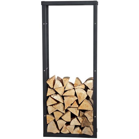 Melko firewood stand 150x60 cm firewood rack for stove wood, incl. plastic floor protector