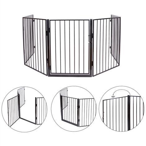 Melko foyer pour enfants grille de sécurité y compris porte en métal grille de sécurité escalier barrière du poêle