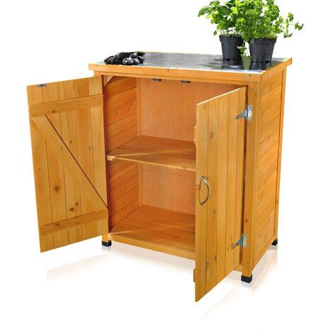 Melko garden cabinet/tool cabinet with 2 doors 75 cm × 40 cm × 90 cm (W x L x H)