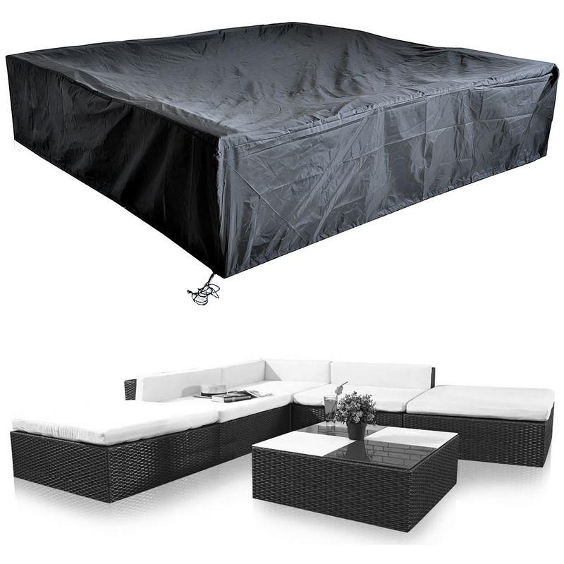 housse de protection meubles de jardin 240 x 240 x 52 cm housse salon de jardin protection contre les intempéries bâche sièges groupe housse de