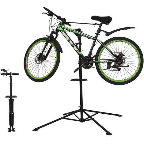 Melko Montage Fahrradständer - support de montage pour vélos, réglable en hauteur, pivotant à 360°, capacité de charge de 30 kg, à déplier, idéal pour les réparations